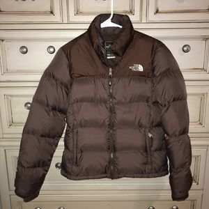 The North Face Brown 700 Goose Down Puffy Jacket